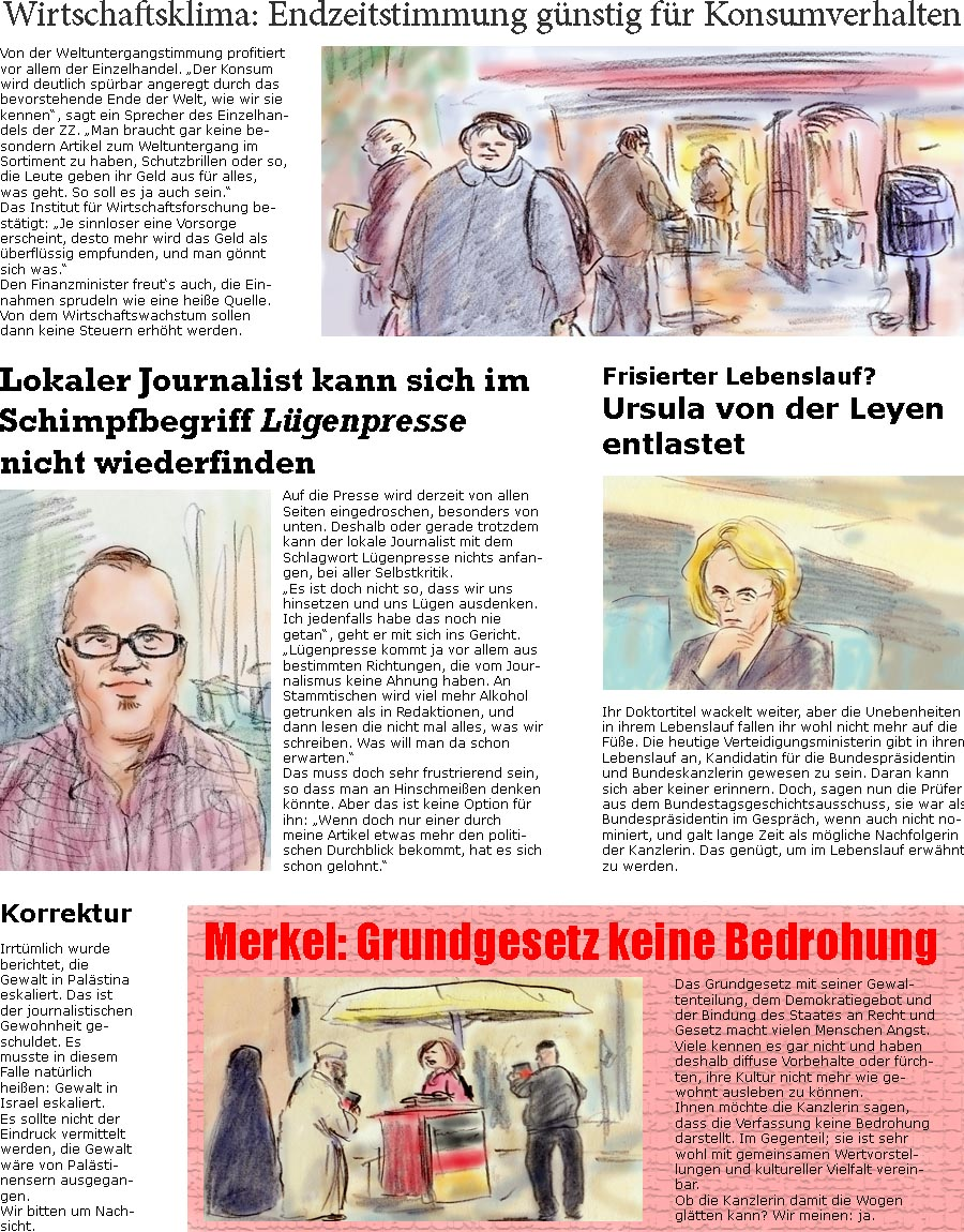 Zellerzeitungde Online Satirezeitung Von Bernd Zeller